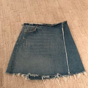 GRLFRND Elle Wrap Denim Skirt Size 25